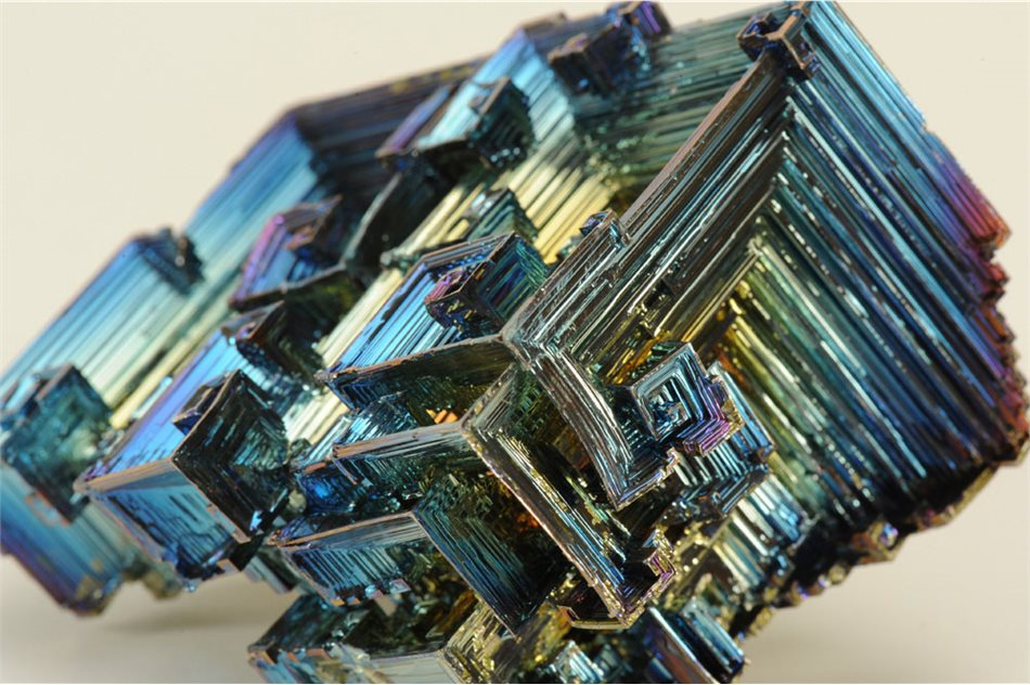 Image: It will take more than 200 billion billion years for this bismuth crystal to decay entirely to thallium.