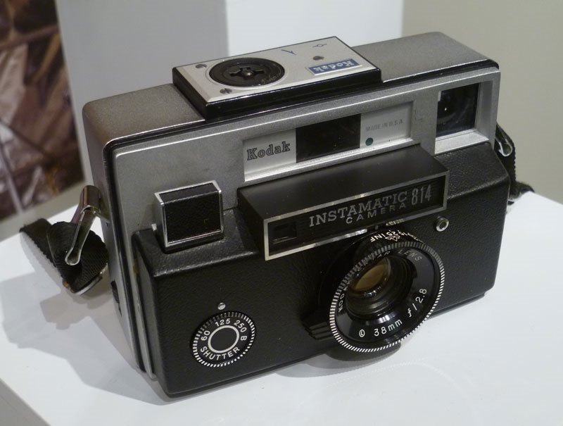Image: This Instamatic 814 camera, from 1968, had one of these 'thorium lenses' but it is only mildly radioactive. If it had emitted enough radiation to harm the photographer, it might also have 'fogged' the film.