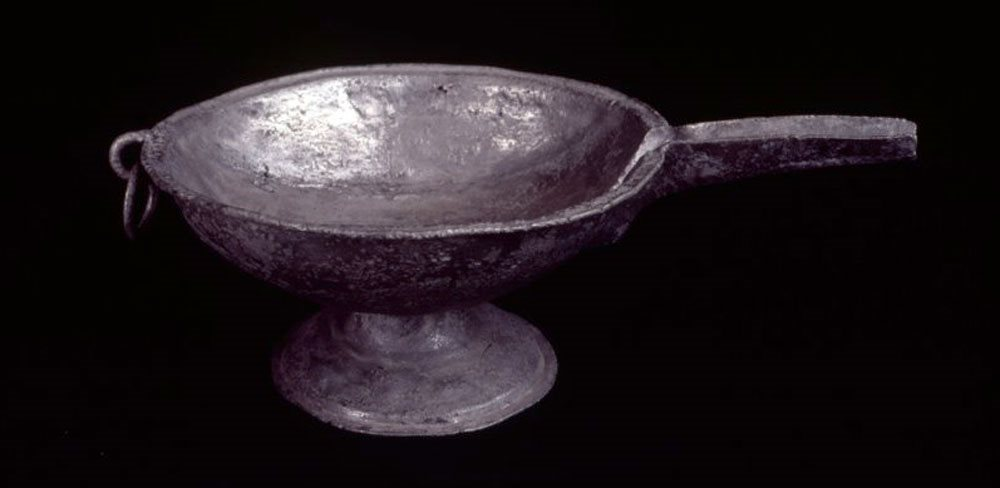 Image: Pewter bowl BTV.185 - On display, Tower Museum
