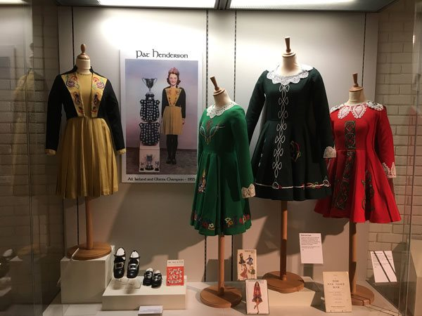Image: A view of the section showcasing a number of class costumes, from 1955 to 1985