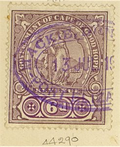 0714685955929 STAMP  Unidentified Victorian stamp from the Cape of Good Hope   6 pence