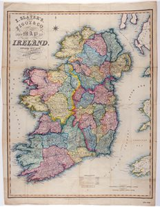 I. SLATER'S, / (LATE) / PIGOT AND CO. / NEW MAP OF / IRELAND. / EMBRACING EVERY RECENT / ALTERATION