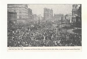 Ulster Day Belfast Sept. 28th 1912