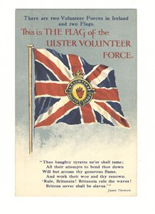 This is the flag of the Ulster Volunteer Force (UVF)