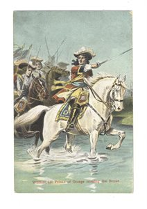 William III Prince of Orange crossing the Boyne