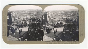 Turkish troops driven from outlying hills by our men, retreat thro' Jerusalem by Jaffa Gate