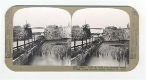 14th century walls and Lille Gate through which British troops marched during defence of Ypres