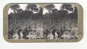 The famous Gurhas with their deadly kukries charge the enemy near Neuve Chapelle
