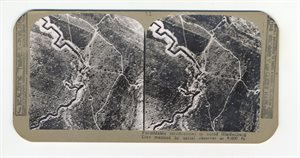 Formidable fortifications in noted Hindenberg line mapped by aerial observor at 8000 ft
