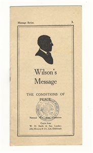 Wilson's Message; The Condition's of Peace