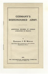 Germany's Dishonoured Army