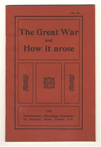 The Great War and how it arose