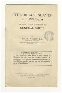 The Black Slaves of Prussia, an Open Letter Addresed to General Smuts