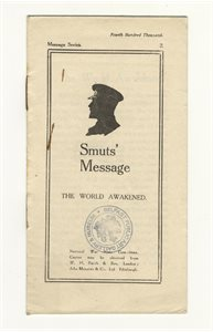 Smuts' message the World Awakened