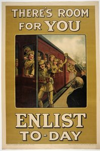 Theres room for you. Enlist to-day