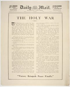 'The Holy War. Victory Bringeth Peace Finally'