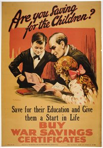 'Are you saving for the children?... Buy War Savings Certificates'