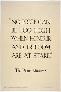 "'""No price can be too high when honour and freedom are at stake"""