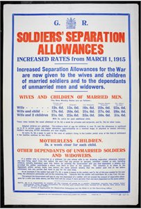 Soldier's Separation Allowances