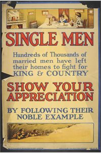 'Single Men - Show your appreciation by following their noble example'