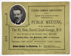 Ulster Liberal Association Public Meeting