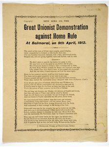 New Song on the Great Unionist Demonstration against Home Rule