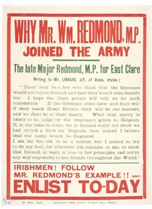 Why Mr. William Redmond, MP joined the army