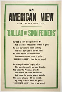 "'An American view. (from the New York ""Life""). Ballad of Sinn Feiners'"