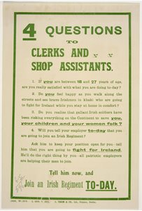 'Four Questions to clerks and shop assistants'
