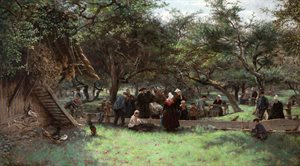 Fête Day in a Cider Orchard, Normandy (1878)