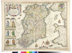 THE / KINGDOME / OF IRELAND / DEVIDED INTO SEVERALL PROVINCES, AND THE / AGAINE DEVIDED INTO COUNTIES / NEWLY DESCRIBED.