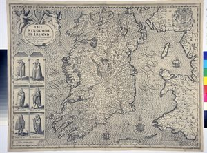 THE / KINGDONE / OF IRELAND / DIVIDED INTO SEVERALL PROVINCES, AND THE / AGAINE DIVIDED INTO COUNTIES. / NEWLY DESCRIBED.