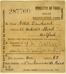 Ration card, Ministry of Food