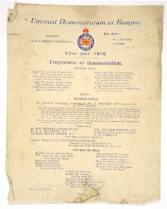 Programme for Unionist Demonstation, Bangor