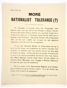 Political Broadside Pamphlet