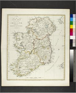 A / NEW MAP / OF / IRELAND. / DIVIDED INTO / PROVINCES AND COUNTIES