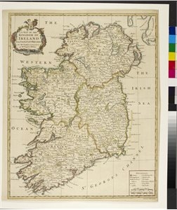 A MAP OF THE KINGDOM OF / IRELAND