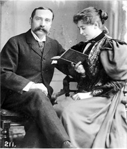 Dr & Mrs J. C. Dundee in Paris, 1895.  On their honeymoon.