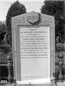 Monument to Milliken Family 1895