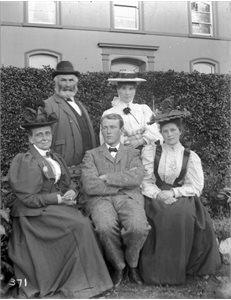 Group:  W. F. McKinney, Miss Ireland