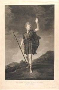 William Henry West Betty, The Young Roscius 1791-1874. Engraved as Young Norval