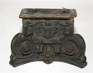 carved oak capital