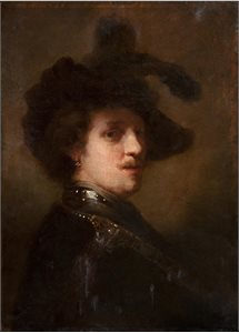 Copy of a Rembrandt Self-Portrait
