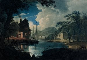 View of the Tamar, Cornwall, Moonlight