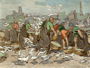 study for girls and gulls at  Ardglass