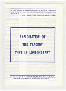 Exploitation of the Tragedy that is Londonderry
