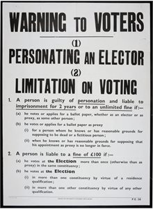Warning to Voters