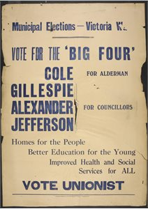 Vote for the Big Four... Vote Unionist