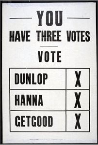 You have Three Votes
