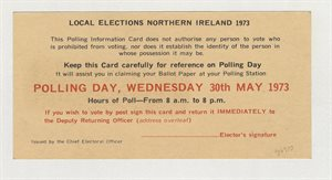 Polling Day, Wednesday 30th May 1973